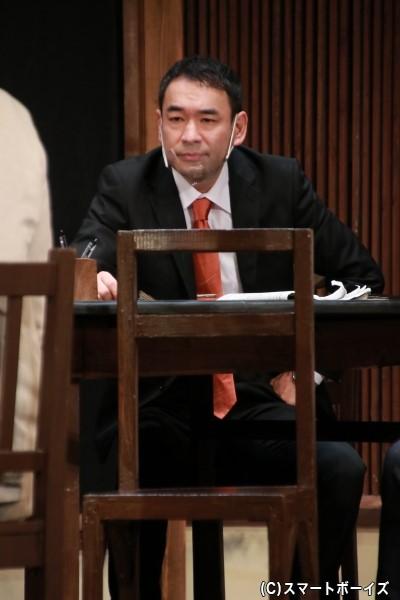 陪審員3号役の小林健一さん