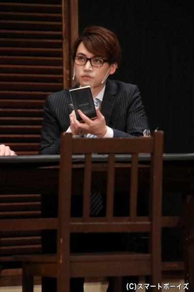 陪審員2号役の登野城佑真さん