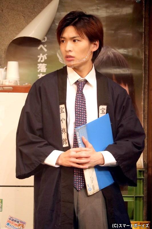 有馬正(ピンク)役の白石康介さん