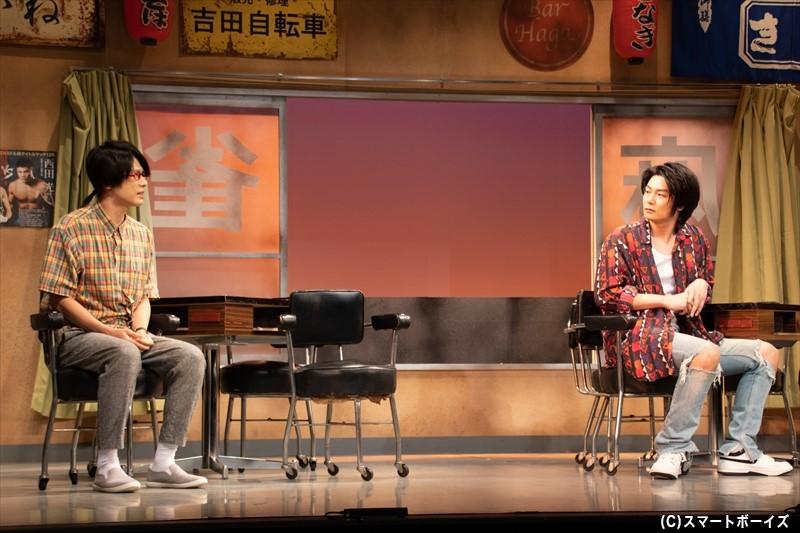 銀次郎は学生時代の同級生・真樹生からゲームセンターのイベント出演を持ちかけられます