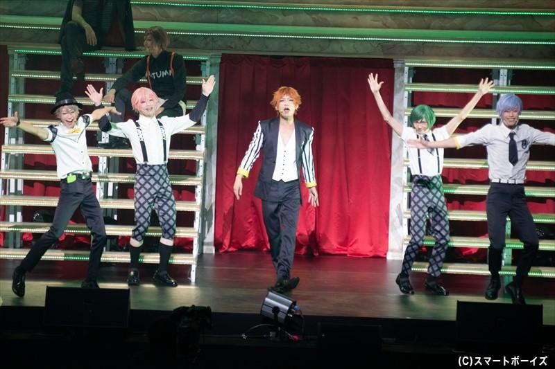 夏組(左より、赤澤燈さん、野口準さん、陳内将さん、宮崎湧さん、本田礼生さん)