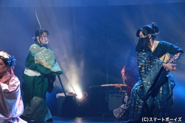 田中さん&鐘ヶ江さんの殺陣は、コロナ禍のルールを活かしたハイレベルなシーンです!