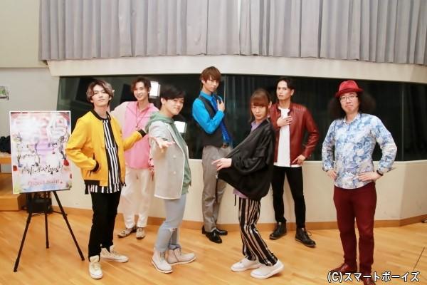(左より) 矢部昌暉さん、大隅勇太さん、長江崚行さん、中山優貴さん、大平峻也さん、友常勇気さん、利根健太朗さん