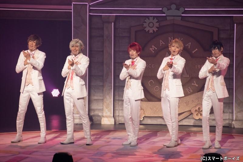 春組(左より、前川優希さん、古谷大和さん、横田龍儀さん、立石俊樹さん、牧島輝さん)