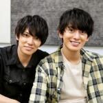 (左から)神戸大助役の糸川耀士郎さん、加藤 春役の菊池修司さん