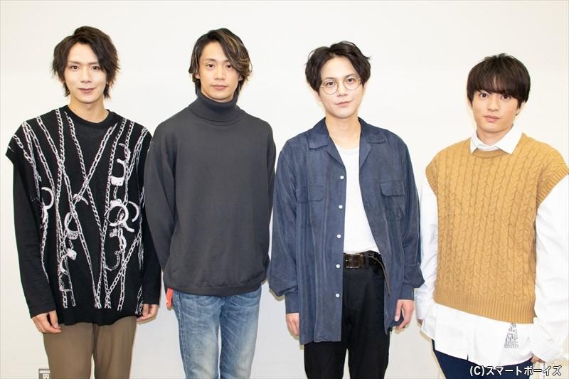(左より)松田岳さん、前川優希さん、平野良さん、大薮丘さん