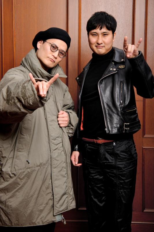 (写真左から)「きつね」の大津広次さん、淡路幸誠さん