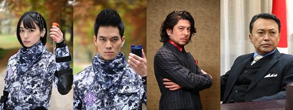 (左より)鳴海 唯 さん、菅原 健さん、ジェイ・ウェストさん、相島一之さん