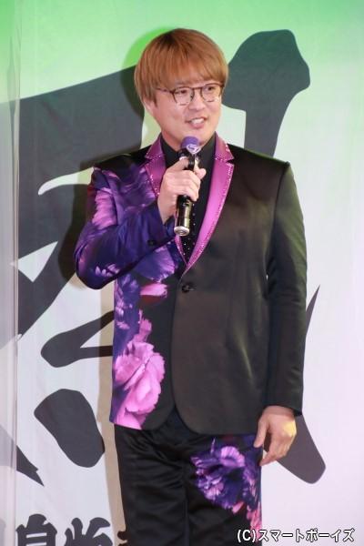 酒井一圭/純バイオレット役の酒井一圭さん