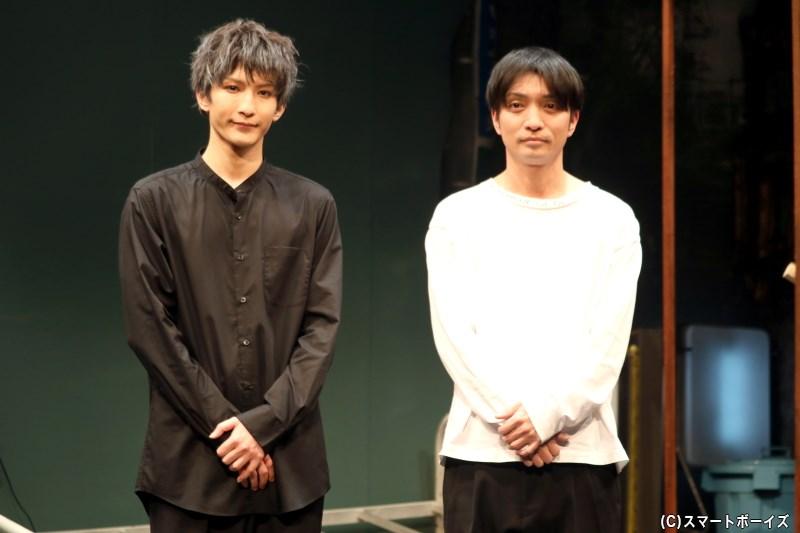 (左から)出演の梅津瑞樹さん、脚色・演出の粟島瑞丸さん