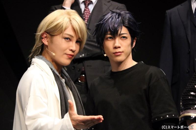 (左から)Growth・衛藤昂輝役の塩澤英真さん、八重樫剣介役の石川 翔さん