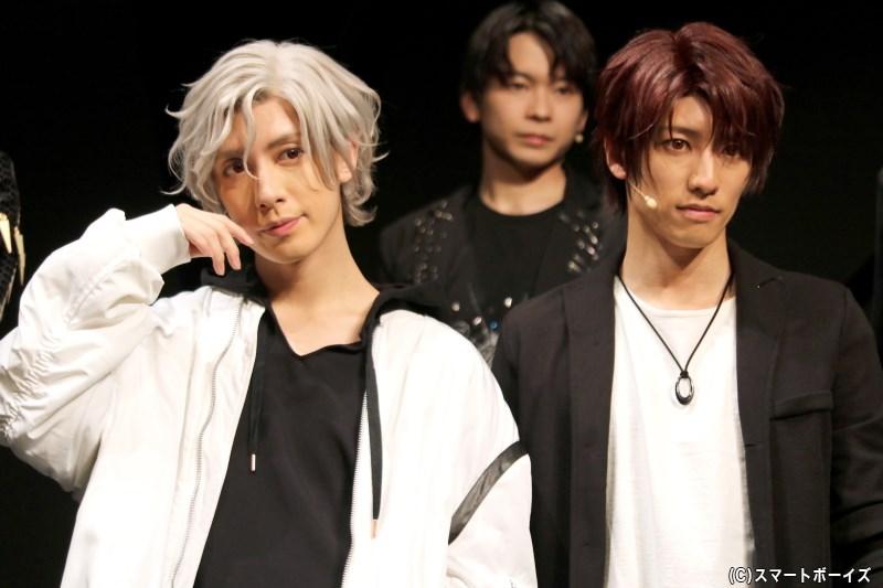 (左から)Growth・桜庭涼太役の橘りょうさん、藤村 衛役の岩佐祐樹さん