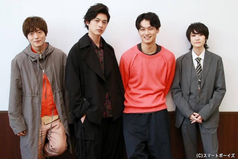 (左より)山口大地さん。砂川修弥さん、中川大輔さん、中山咲月さん