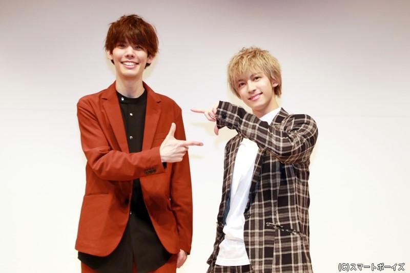 (左)健人さん (右)阿久津仁愛さん