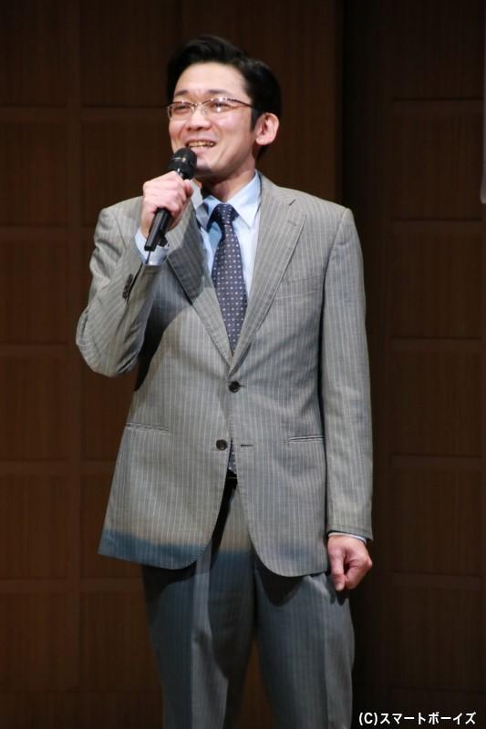 長谷川南斗役の津村知与支さん