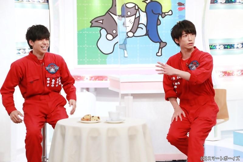 (右)奥谷知弘さん (左)大城光さん