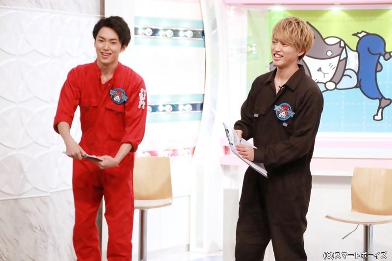 (右)石渡真修さん (左)内海啓貴さん