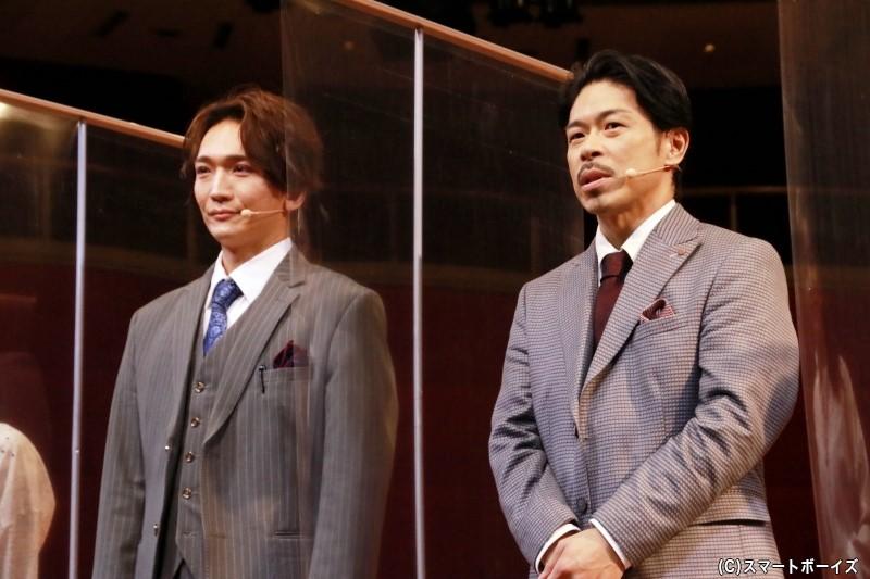 松本利夫さんと丘山晴己さん、稀代のパフォーマー2人が、同じ内容の作品を、まったく違う作品へと導きます