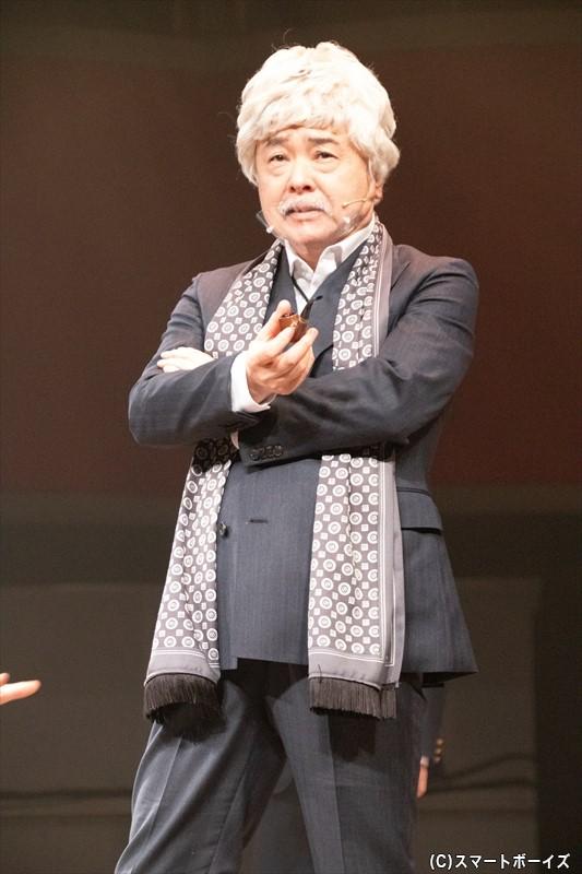 ジャックにお宝を狙われる被害者・宝ノ持クサレ役には、ベテラン俳優の酒井敏也さん