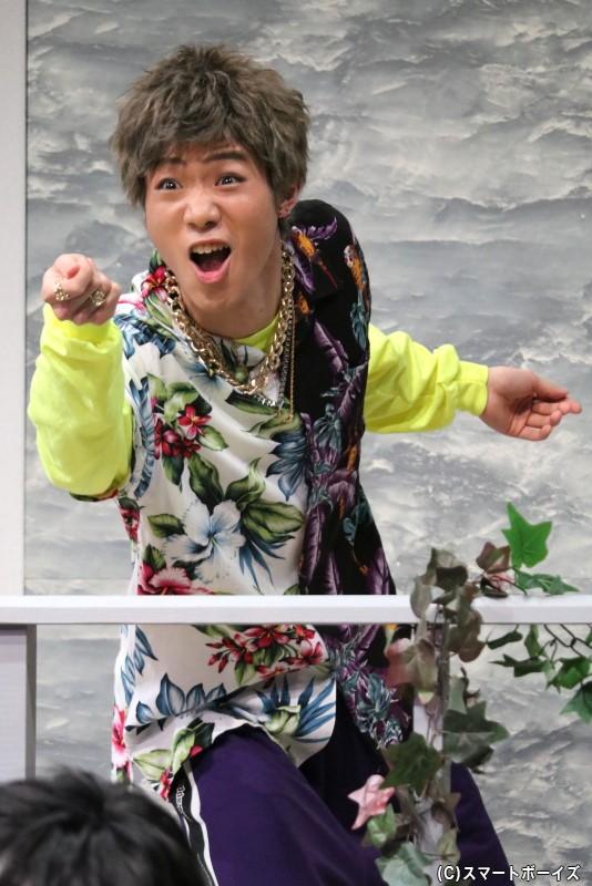赤羽の弟分のチンピラ・大崎役の廣瀬真平さん(DIAMOND☆DOGS)