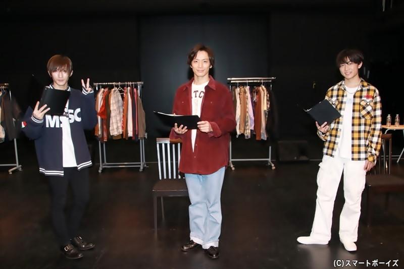 (左より)梅津瑞樹さん、久保田秀敏さん、野口友輔さん