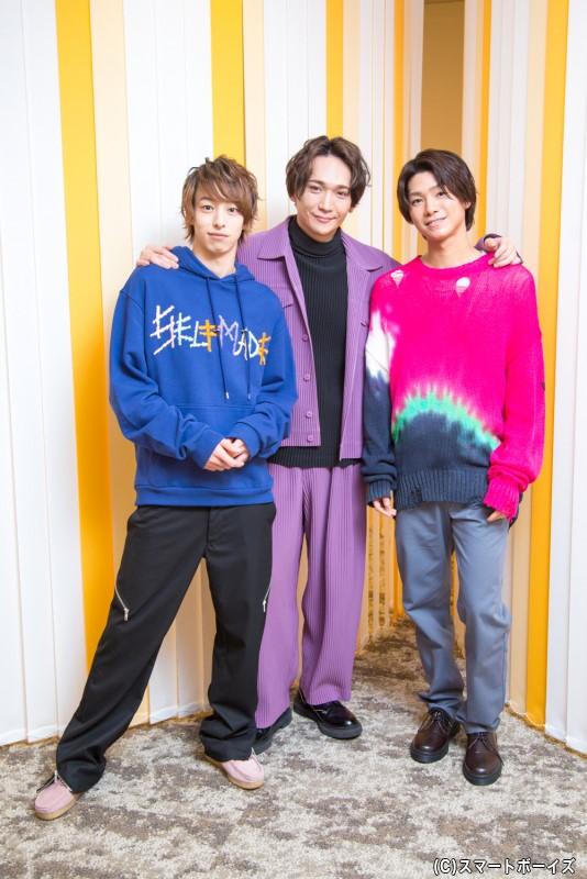 (左から)杉江大志さん、丘山晴己さん、北川尚弥さんが登場!