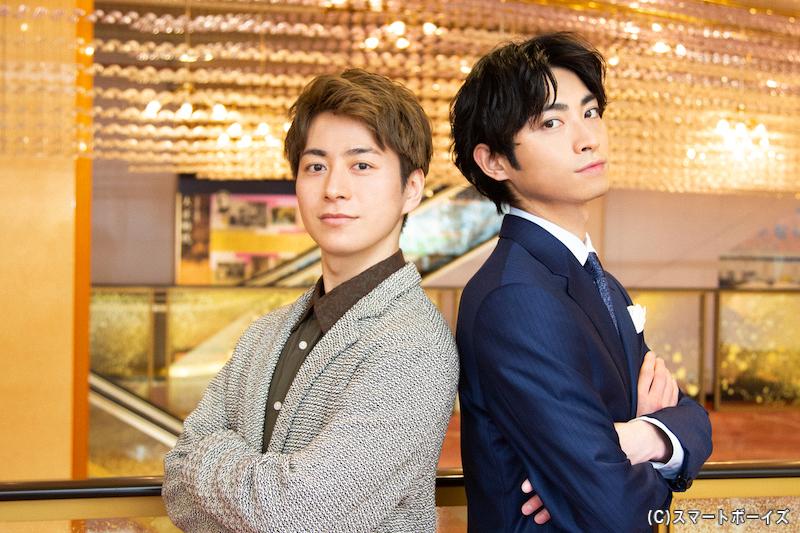 (左から)根津甚八役の村井良大さん、柳生又十郎役の木村達成さん