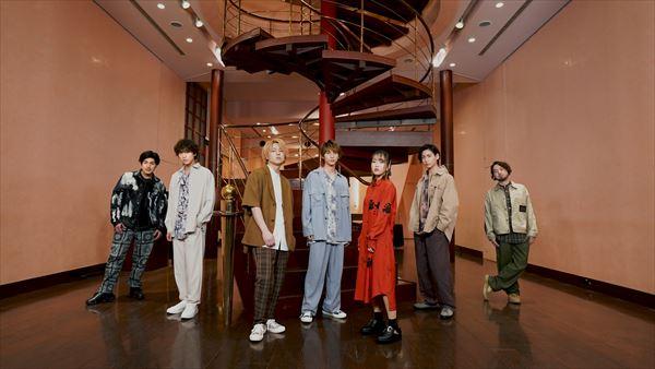 写真左から 三岳慎之助、島太星、坂田隆一郎、木原瑠生、早希、山田健登、RyoTracks(敬称略)