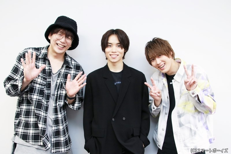 (左より)磯貝龍乎さん、太田将熙さん、碕理人さん