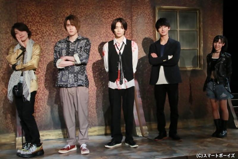 (左より)伊崎龍次郎さん、碕理人さん、太田将熙さん、菊池修司さん、北澤早紀さん