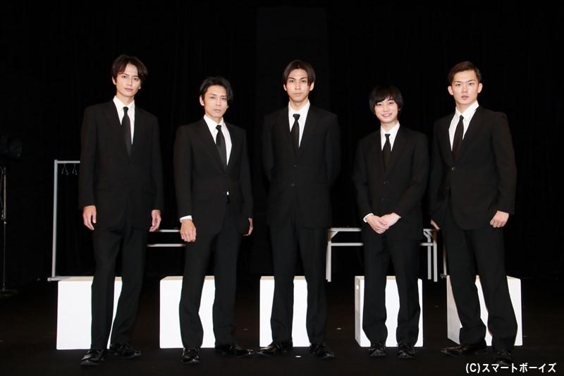 (左より)小野健斗さん、富田翔さん、井澤勇貴さん、百瀬朔さん、清水一輝さん