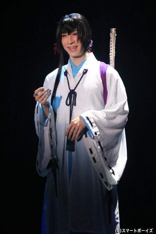 鷺原左京役の田中稔彦さん
