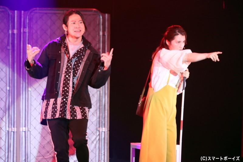 エミの友人・トモヒコ(左・西川大貴さん)は、エミと曲作りをする音楽仲間だった