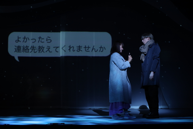 耳の聞こえない雪(豊原江理佳さん)は、逸臣(前山剛久さん)に憧れを抱き……