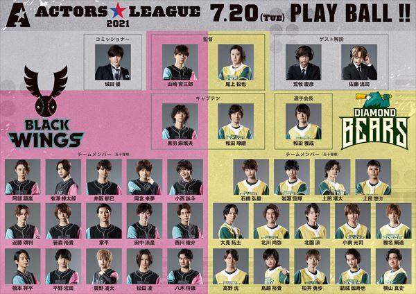 野球×エンターテインメント 『ACTORS☆LEAGUE』7/20開催!