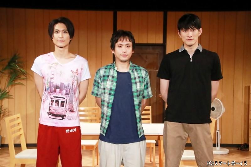 (左より)栗田学武さん、來河侑希さん、磯野大さん