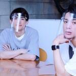 舞台『ゼロの無限音階』に出演する百名ヒロキさん(左)と古谷大和さん(右)