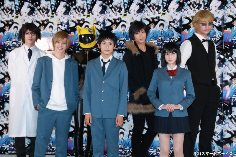 (左前列より)杉江大志さん、橋本祥平さん、福島雪菜さん (左後列より)安西慎太郎さん、佐野夏未さん、猪野広樹さん、伊万里有さん