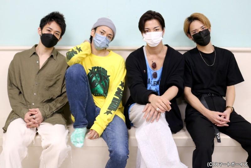 (左から)鐘ヶ江 洸さん、前田隆太朗さん、里中将道さん、坪倉康晴さん