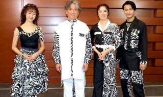 (左から)仙名彩世さん、駒田 一さん、彩吹真央さん、中河内雅貴さん